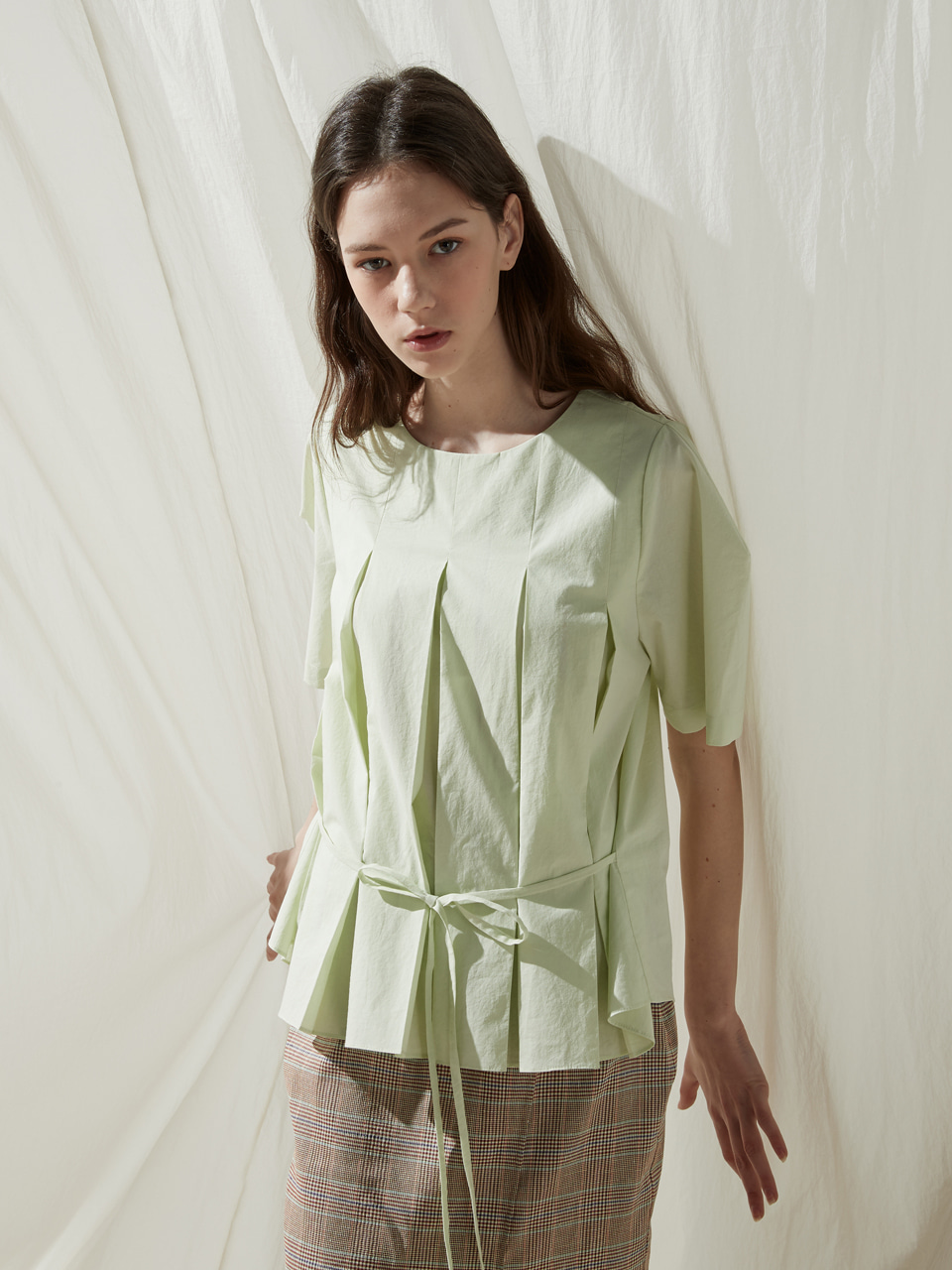 Half pleated top - Melon