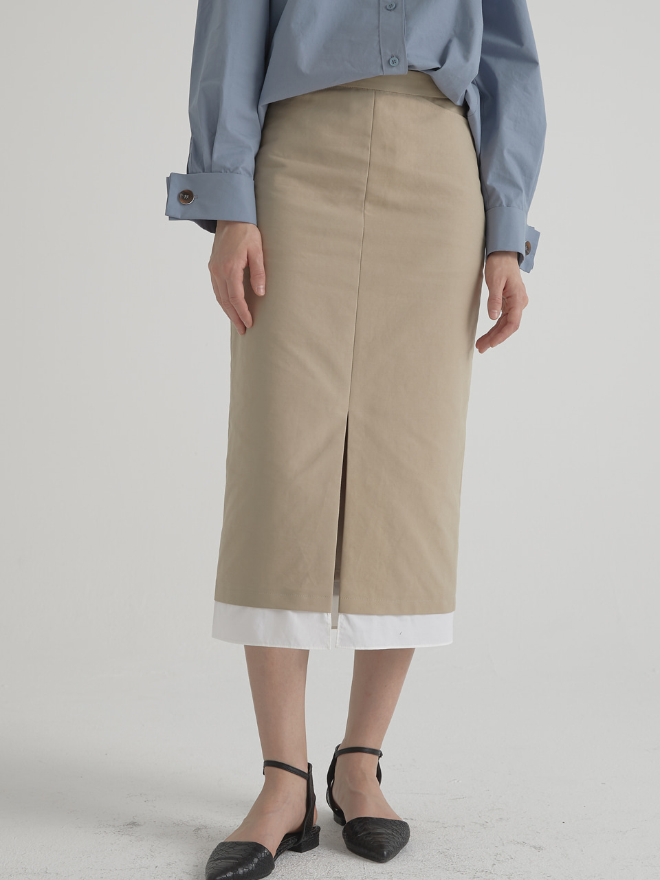 Essential slit skirt - Beige