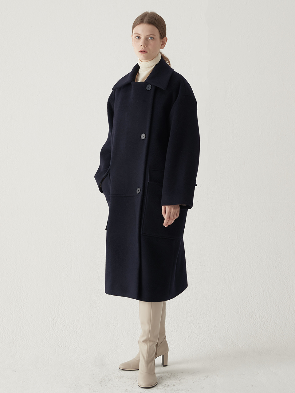 Overfit pocket coat - Navy