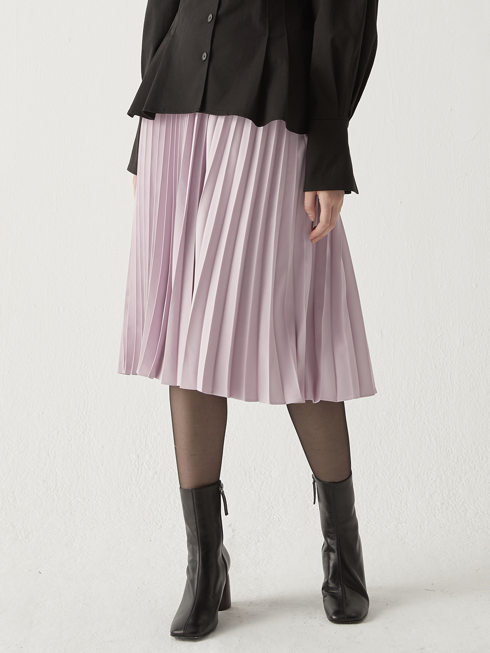 Pleated banding skirt - Lavender