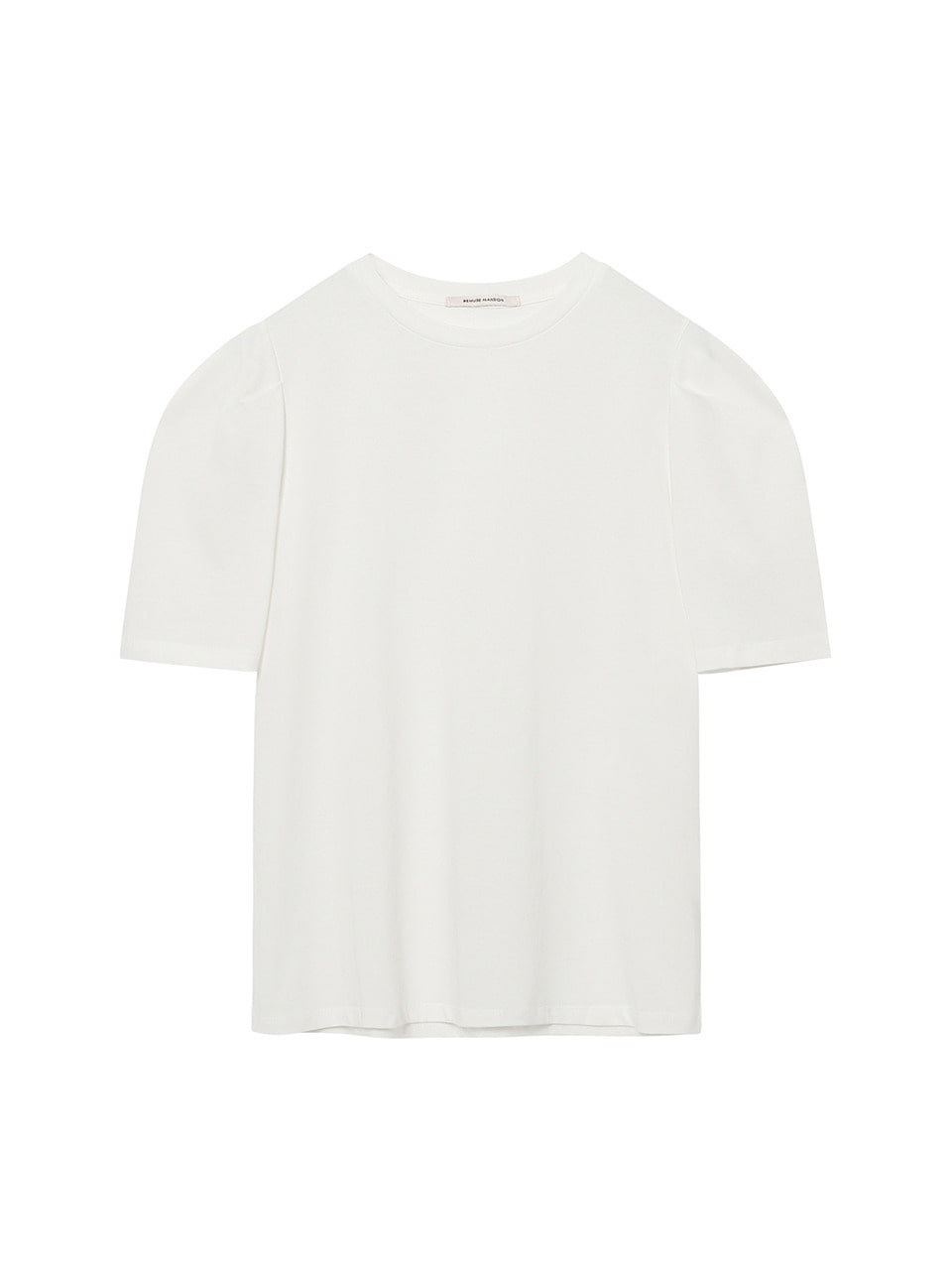 Summer curved tee - Ivory