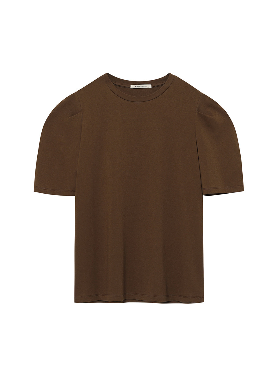 Summer curved tee - Brown