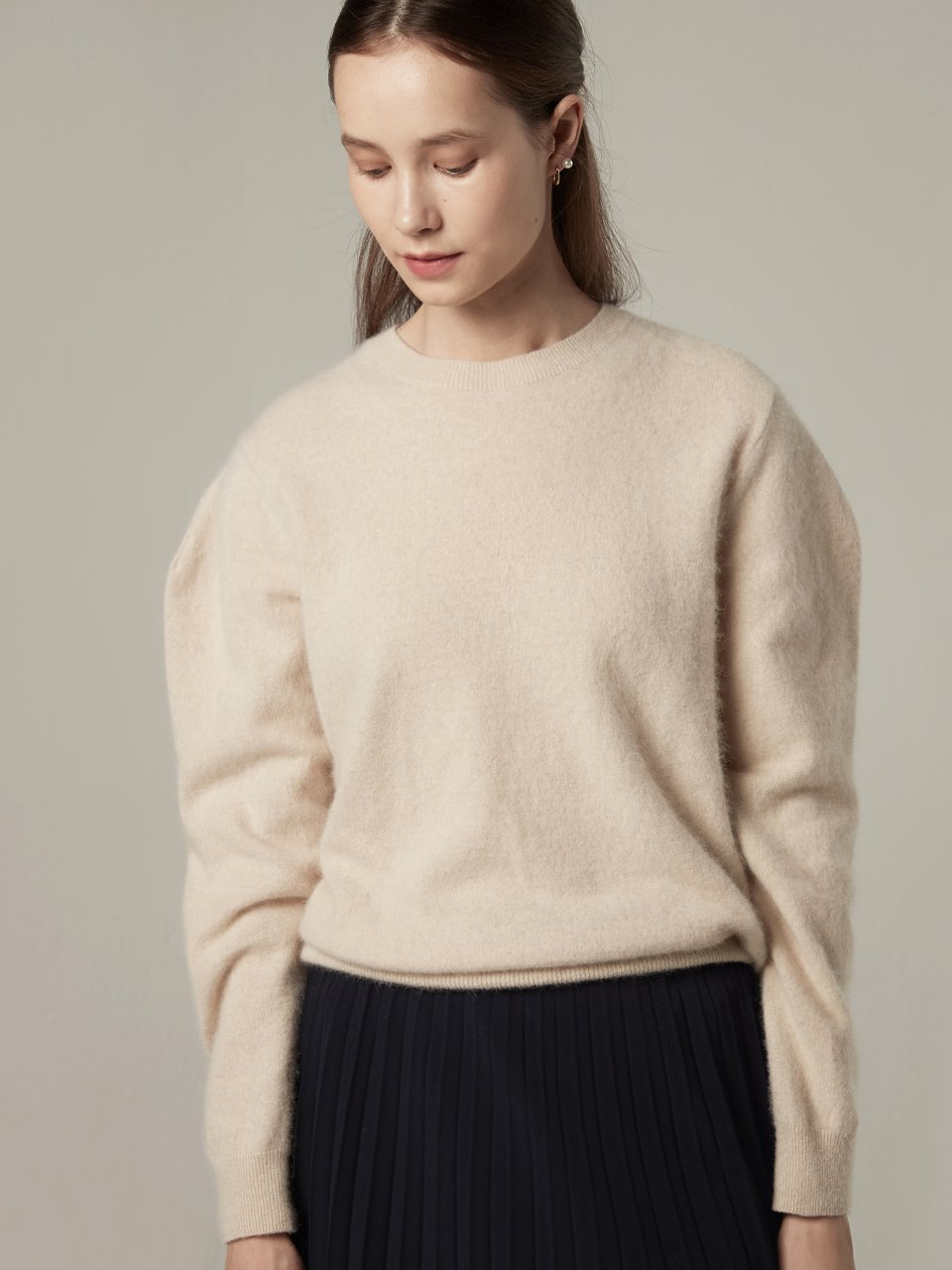 Raccoon blended pullover - Oatmeal