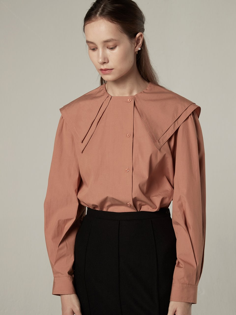 Double collar blouse - Salmon