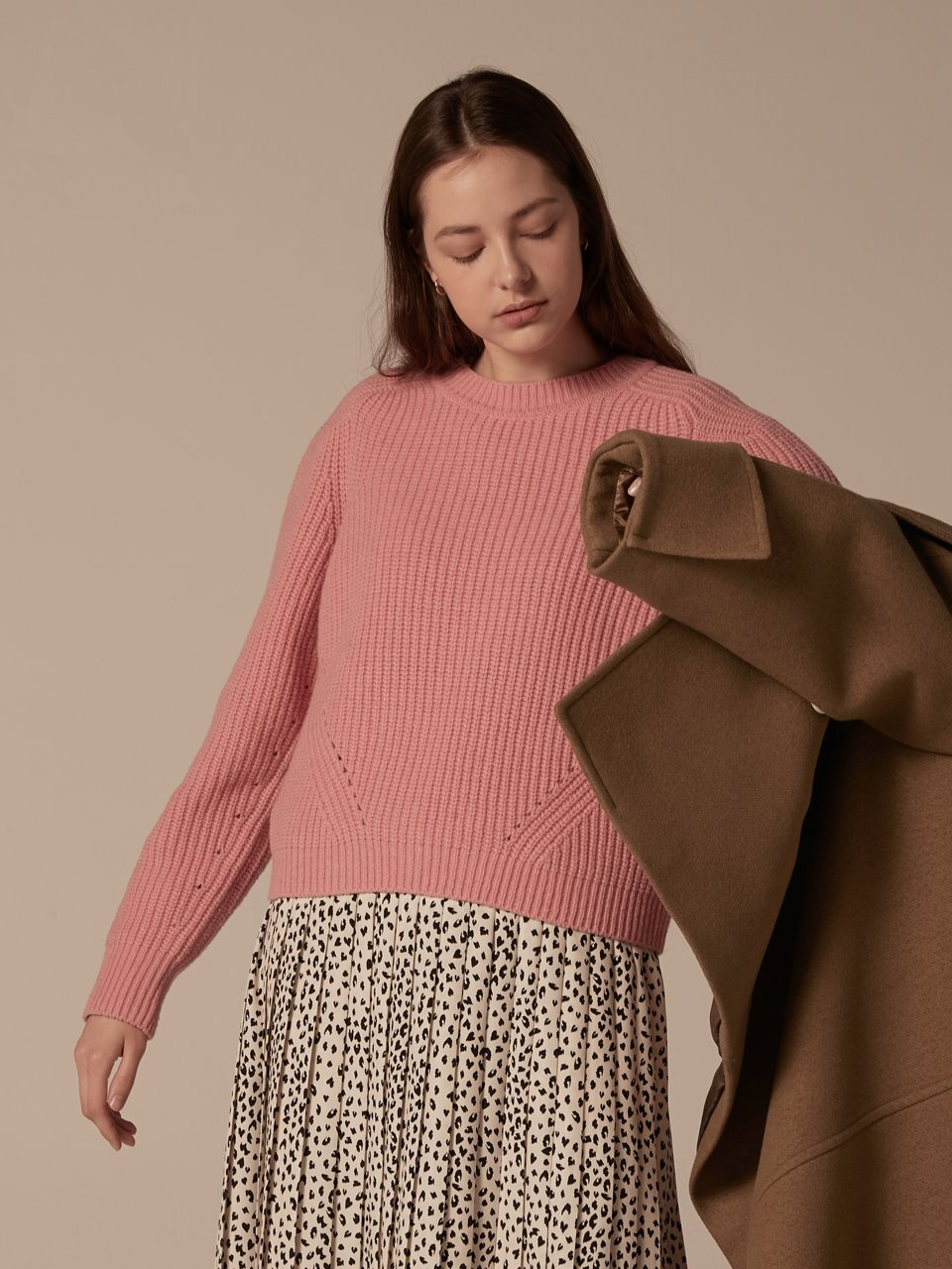 Puffy shoulder pullover - Pink