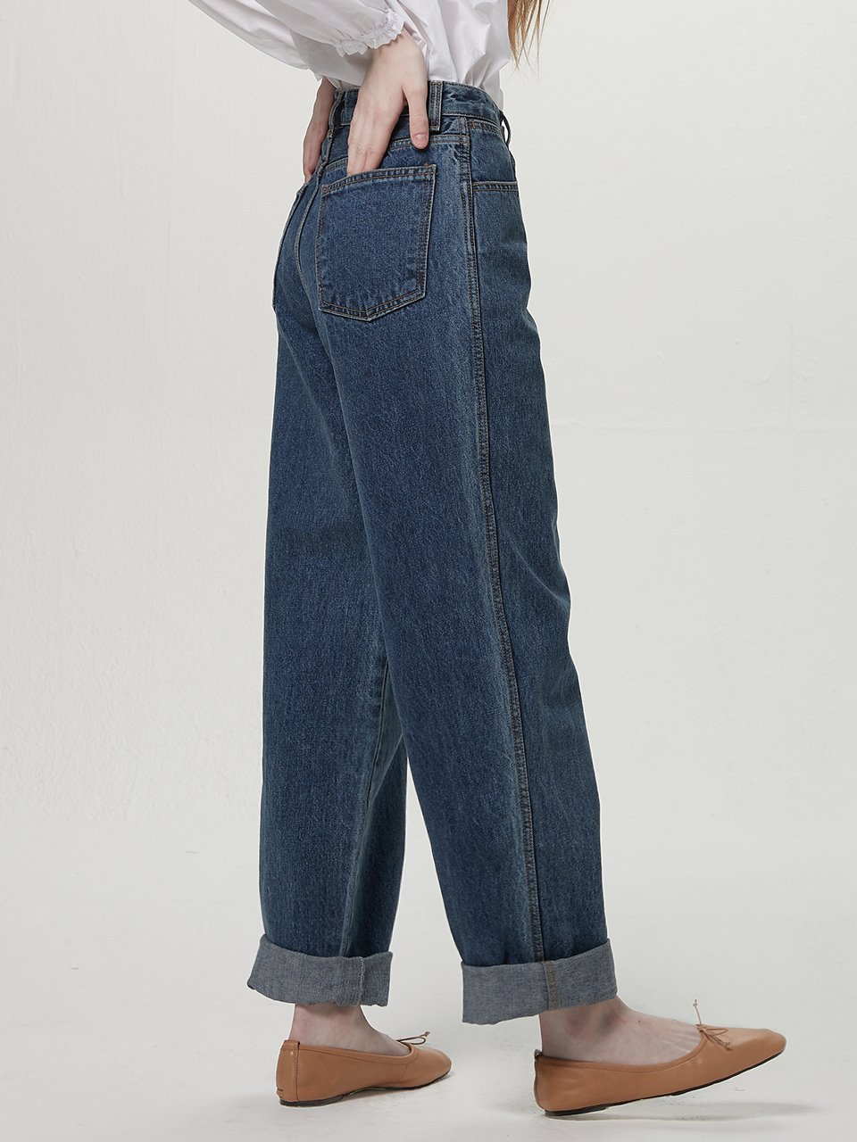 Highrise wide denim - Blue