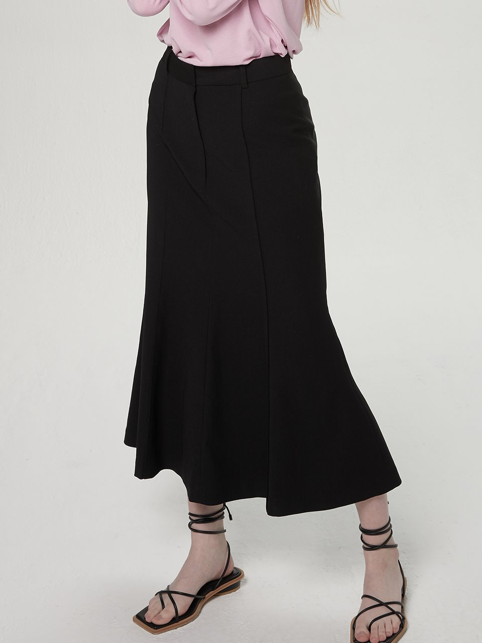 Long mermaid skirt - Black