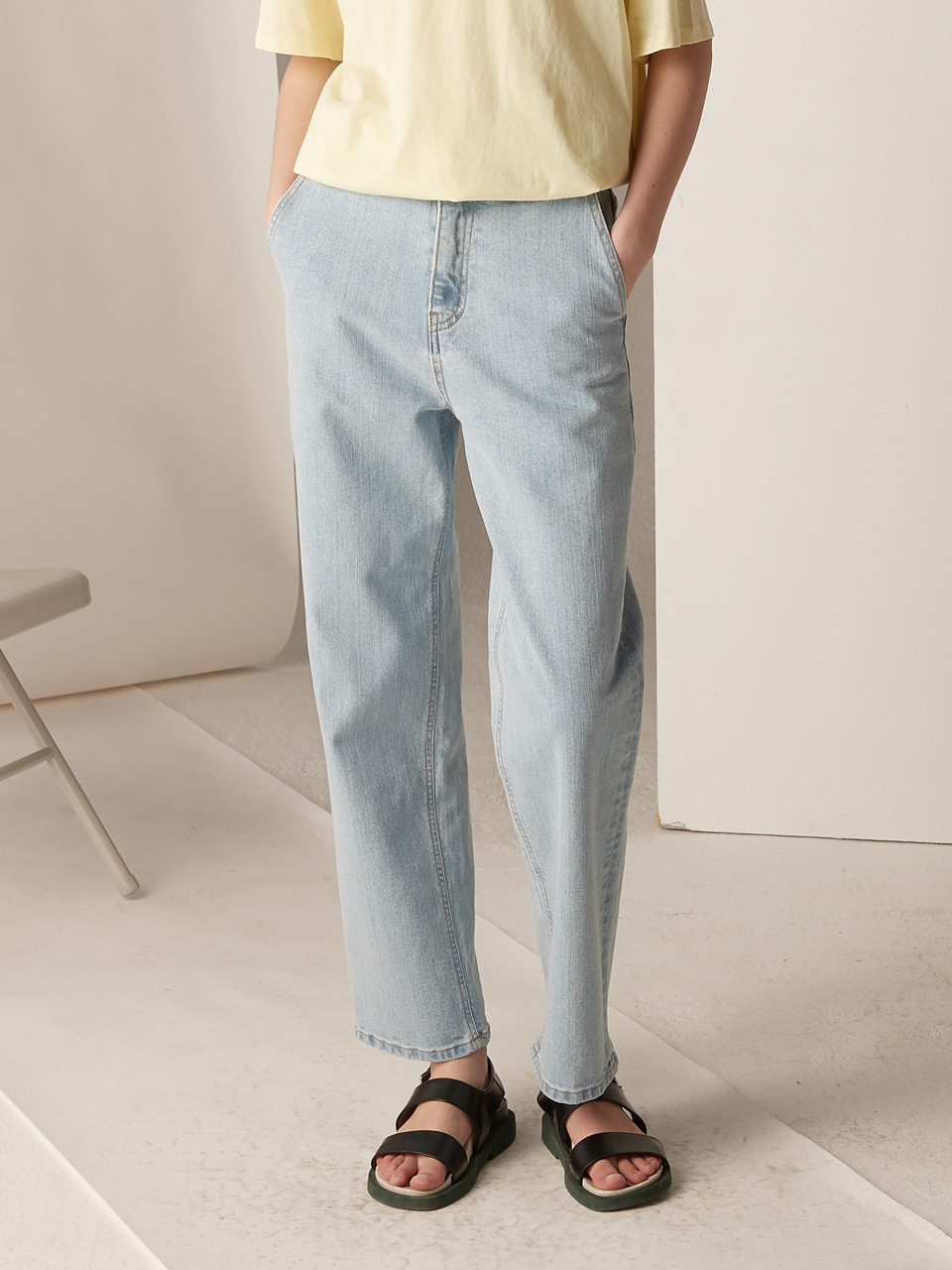 High waist denim - light blue