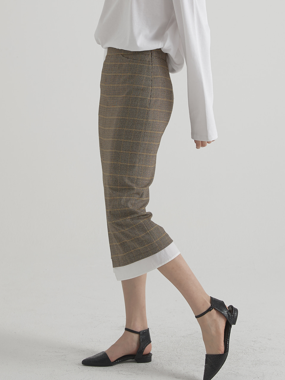 Essential slit skirt - Check