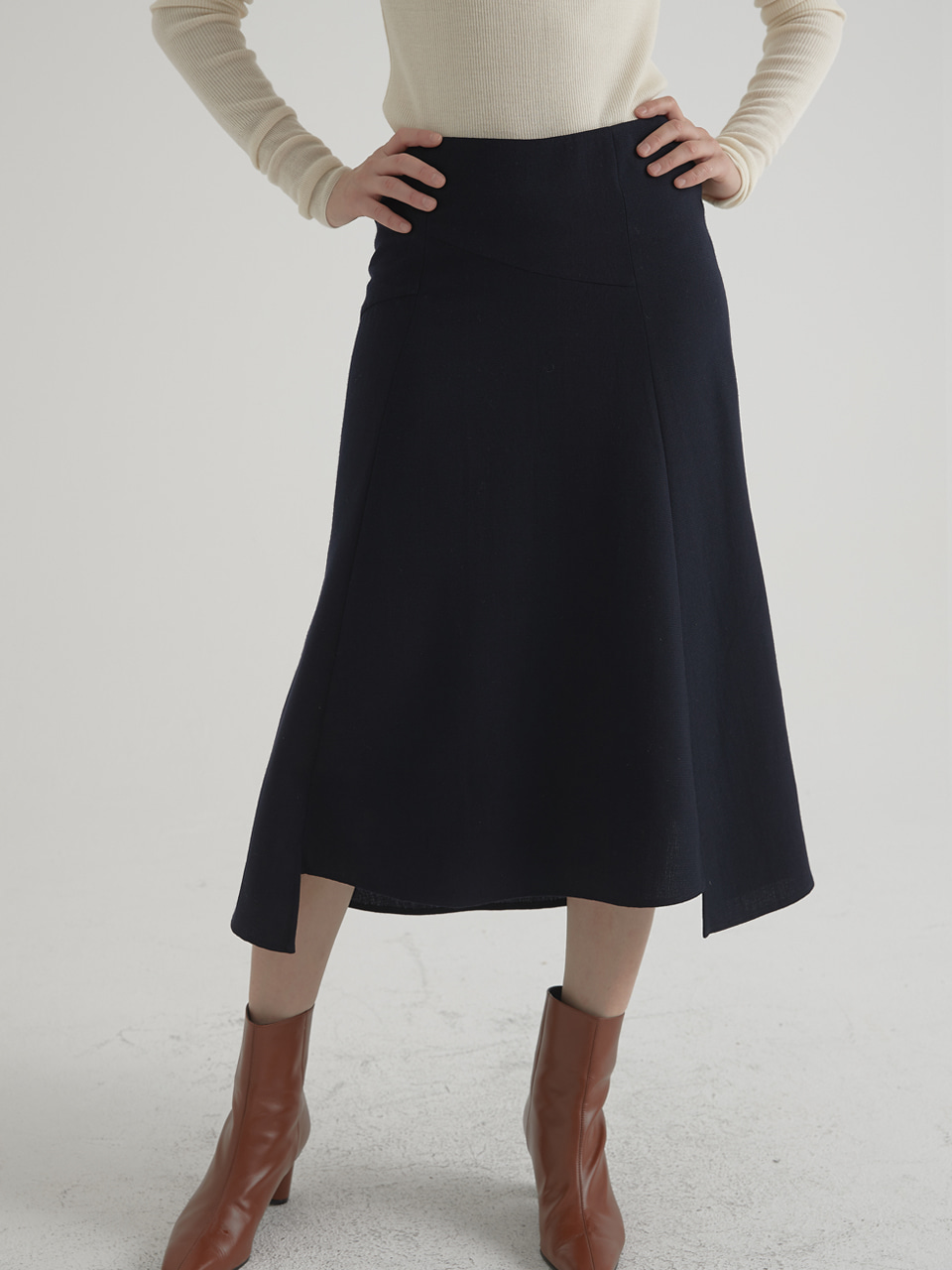 Unbalance mermaid skirt - Navy
