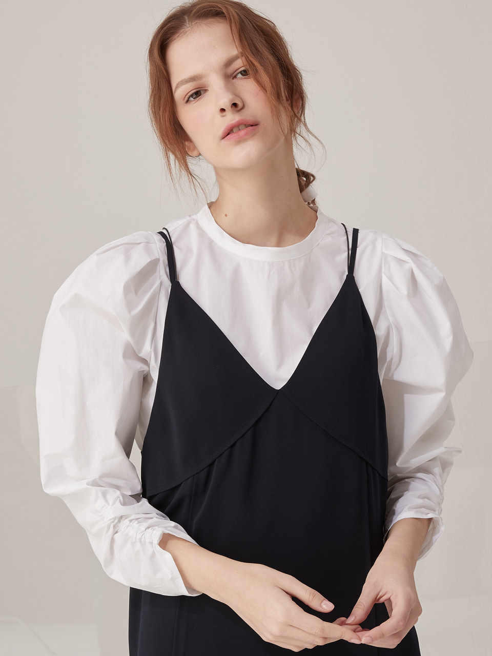 2 way volume blouse - White