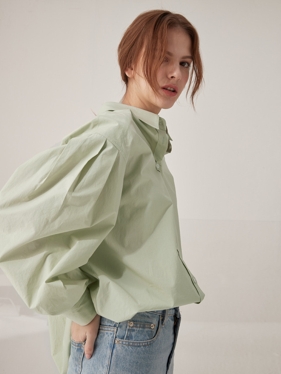 Volume oversized shirts - Mint