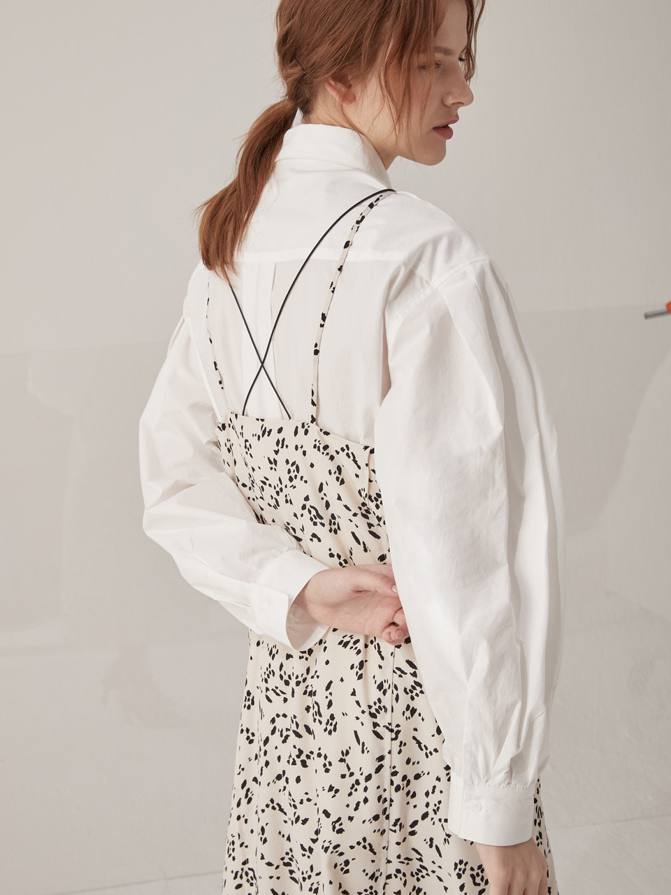 Volume oversized shirts - White