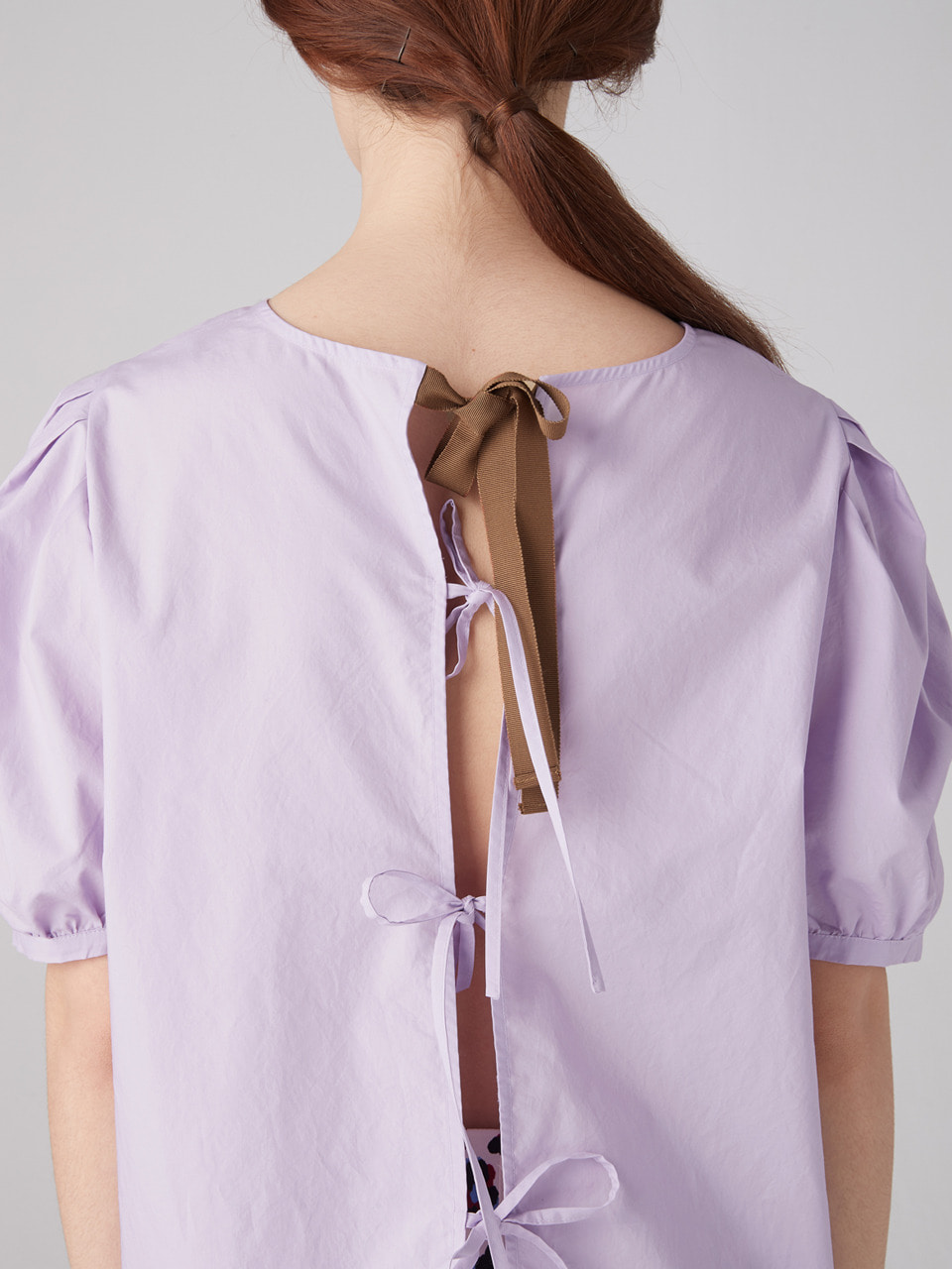 Back tied blouse - Lavender