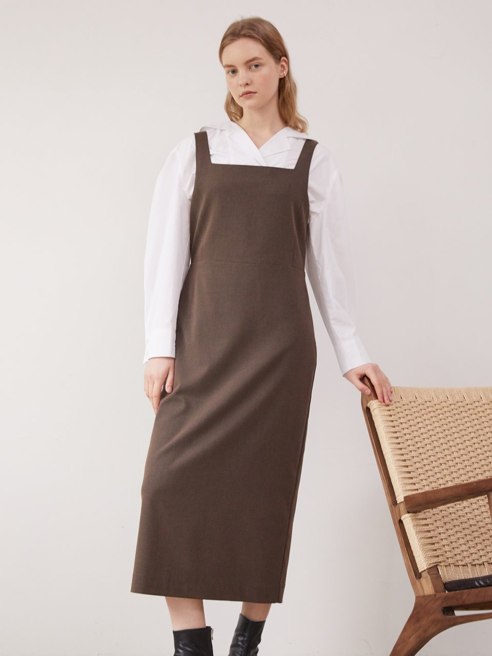 Molly layered dress - Brown