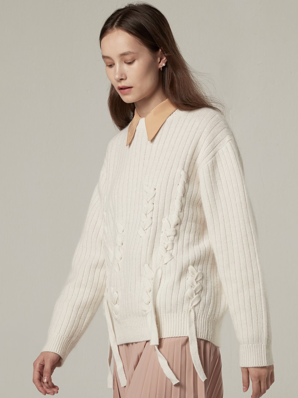 Angora Taped Knitwear- Ivory