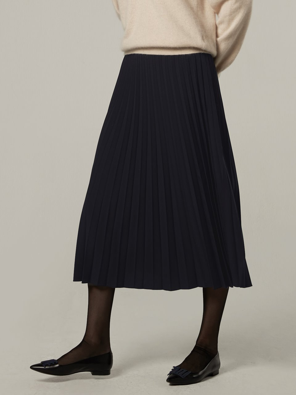 Bemuse pleats skirt - Navy