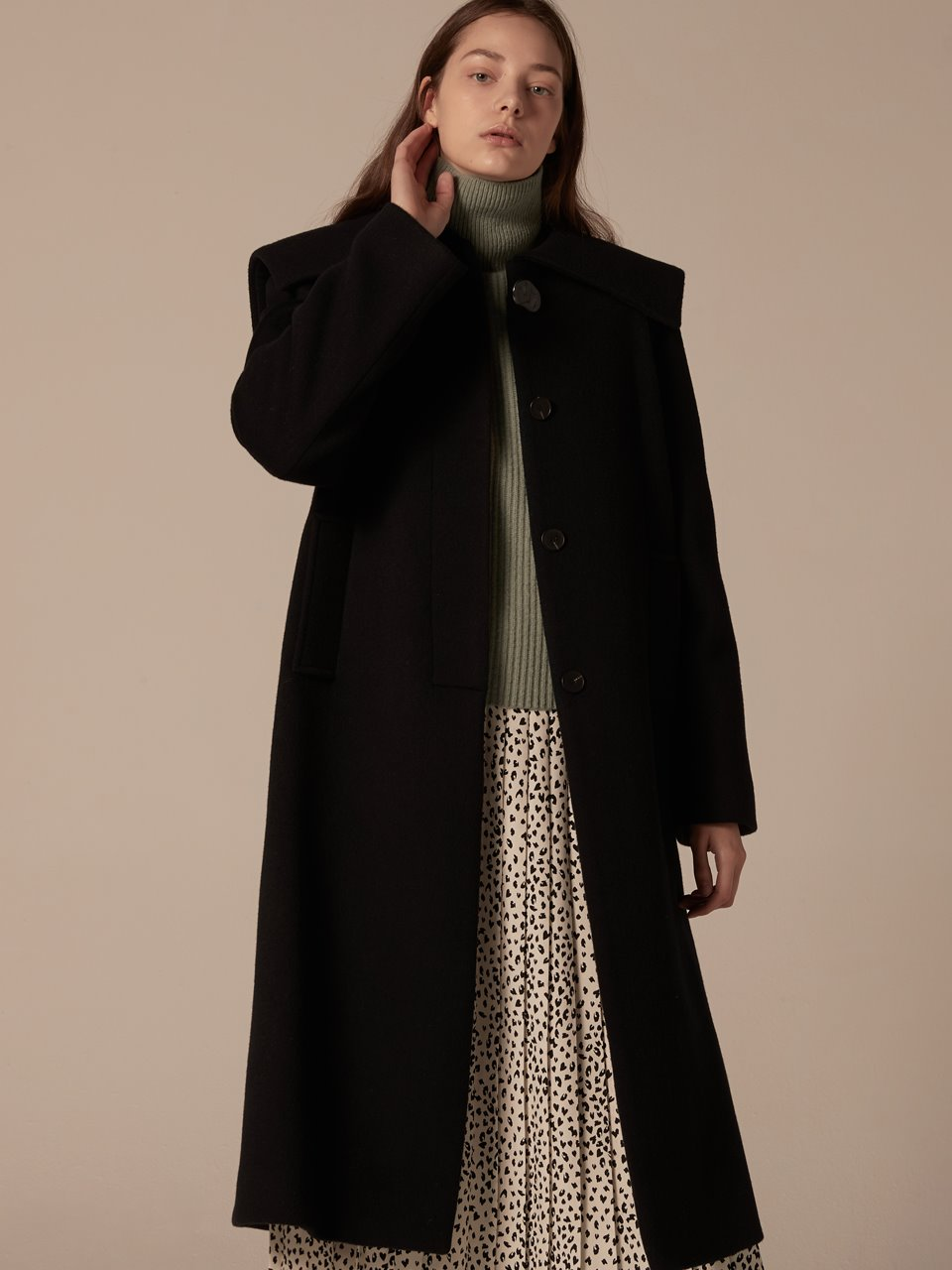 Sailor Long Coat - Navy