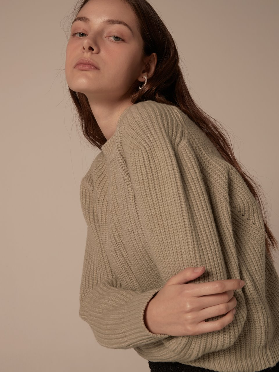 Puffy shoulder pullover - Mint