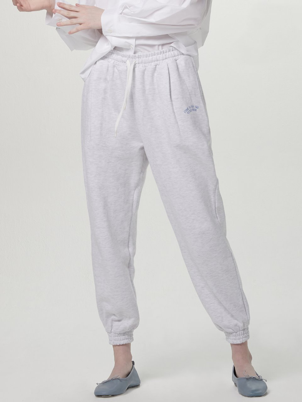 Come as jogger pants - White melange