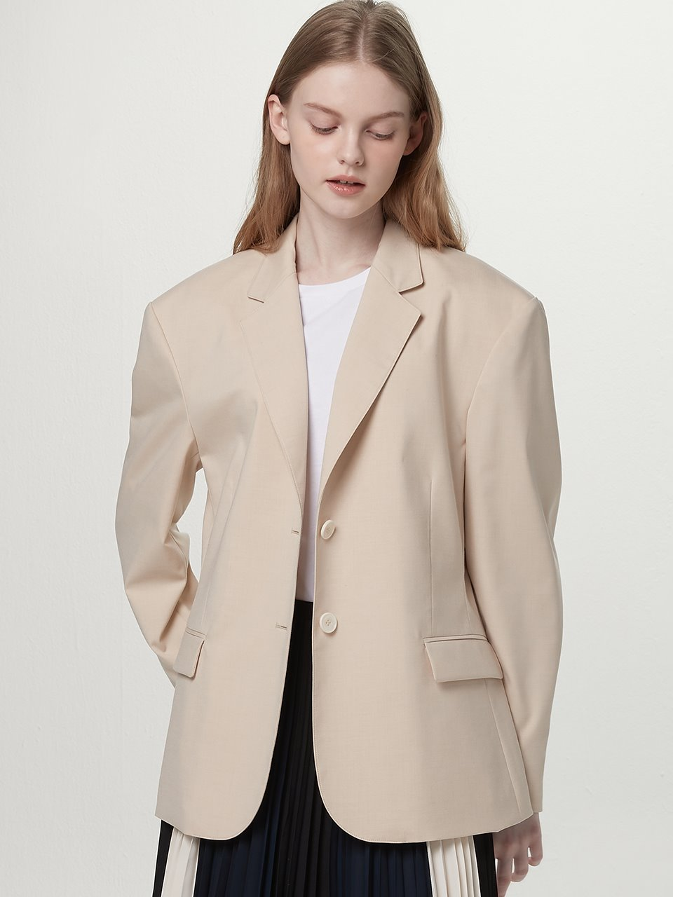 Single suit jacket - Cream beige