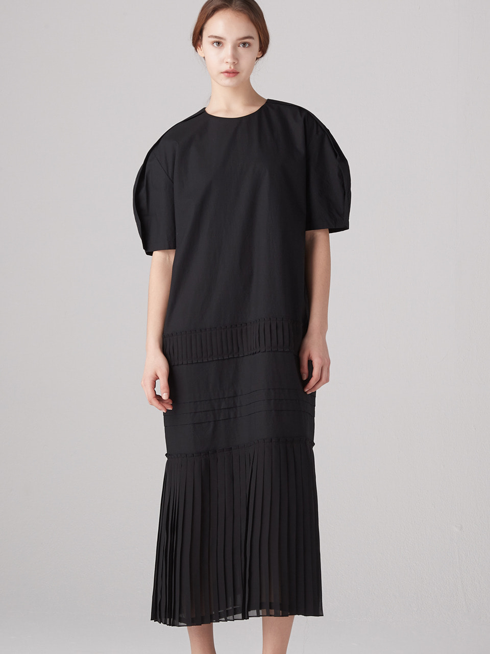 Muse pleats dress - Black