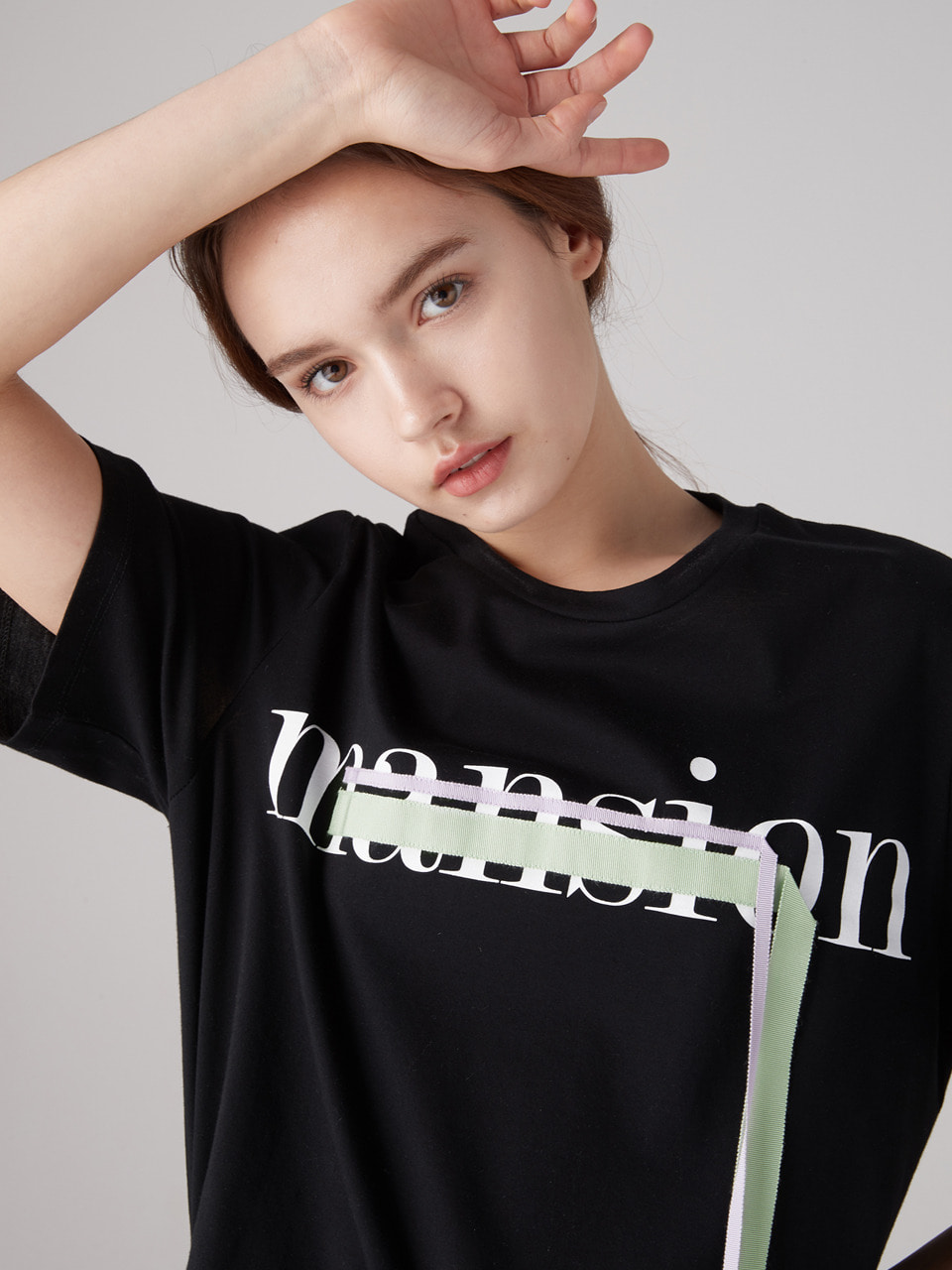 Nu mansion tee - Black