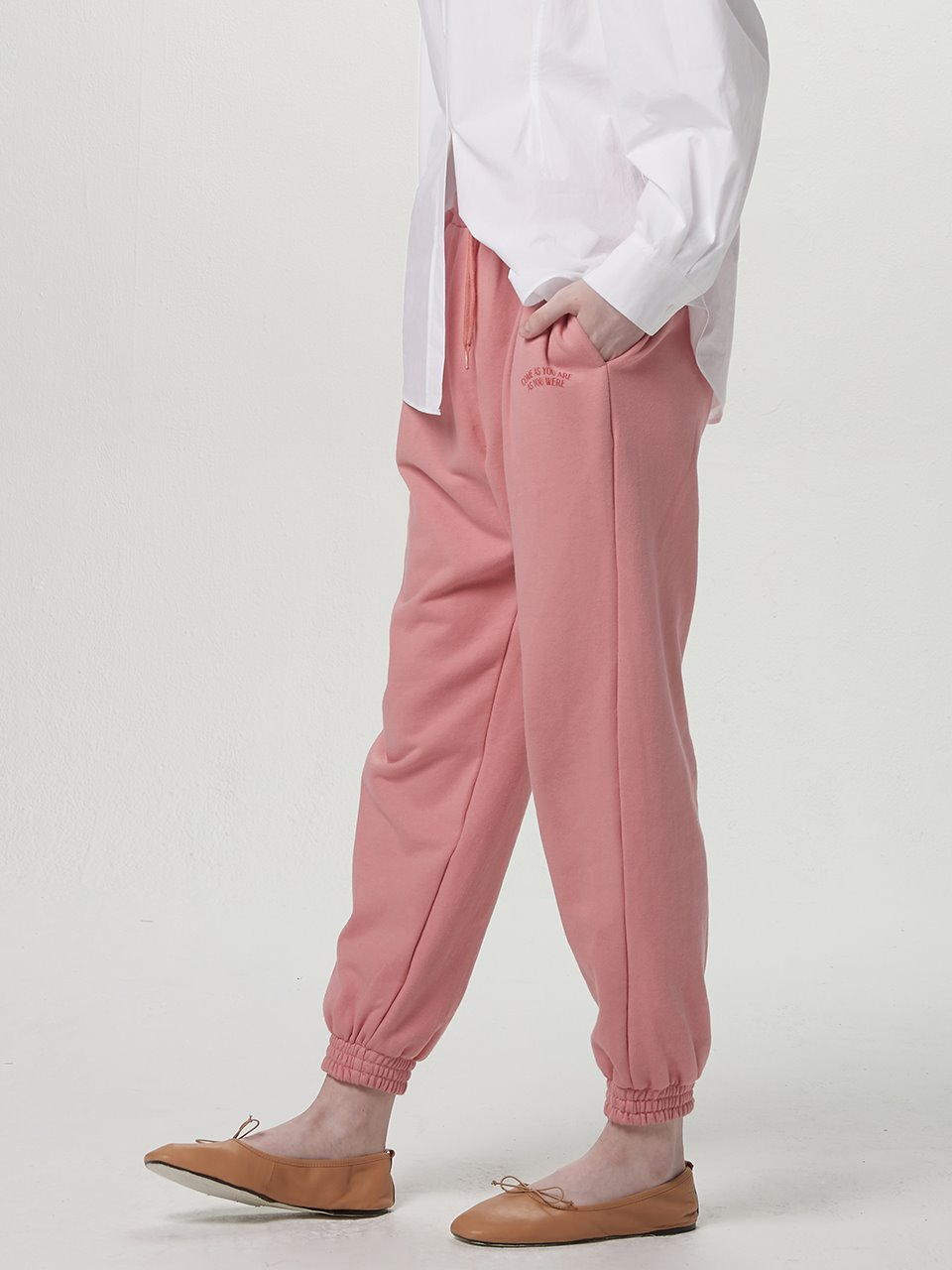 Come as jogger pants - Coral pink